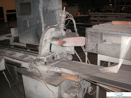 Sampson Model Sc12 Straight Cut Saw With Pusher Hilditch