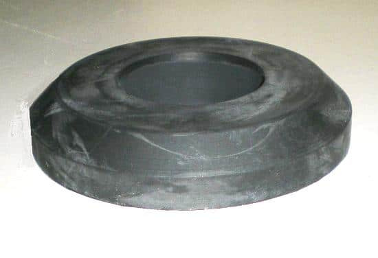 Vertical glass washer rubber wheel