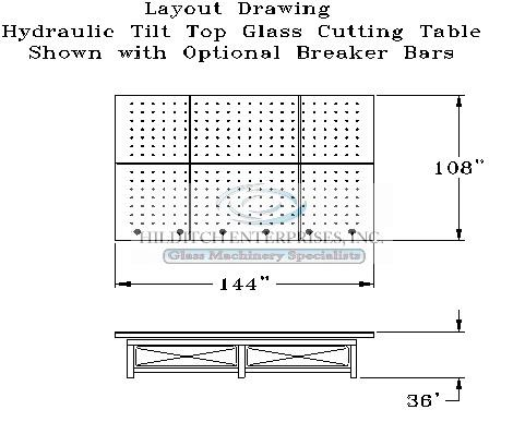 Hydraulic tilt glass cutting table-3wm